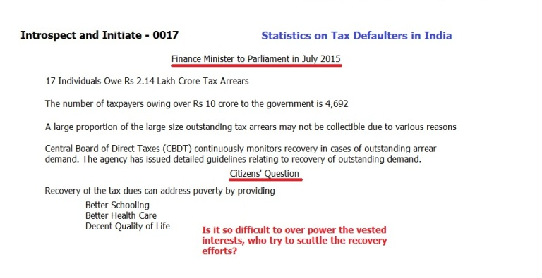 Tax defaulters